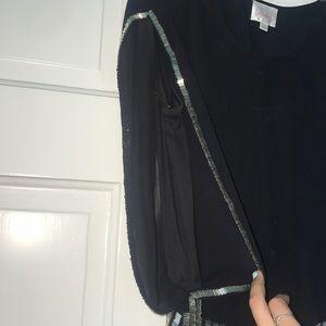 Parker Dresses - Parker Black Dress with Silver Sequins